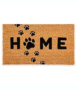 Tapete para entrada de fibra de coco Evergreen Home con diseño de huellas, 40.64 x 71.12 cm