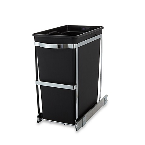 image of simplehuman commercial grade 30liter pullout trash can