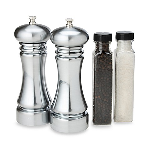 Olde Thomspon Pepper Mill And Salt Grinder Set In