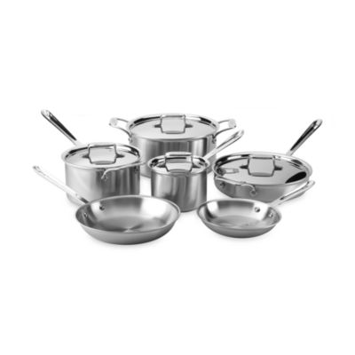 allclad d5 brushed stainless steel 10piece cookware set