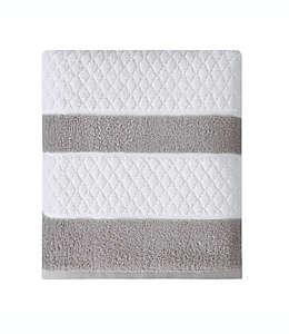 Toalla de medio baño de algodón Wamsutta® Hotel Border color gris
