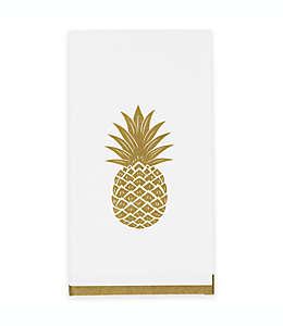 Toallas desechables de papel con borde dorado, 32 piezas