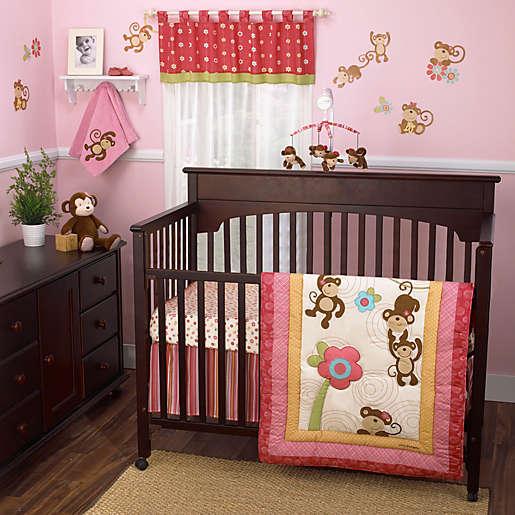 Melanie The Monkey 4 Piece Crib Bedding, Coco Baby Bedding