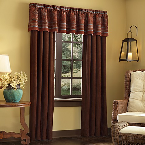 Pueblo Window Curtain Panel Pair And Valance Bed Bath