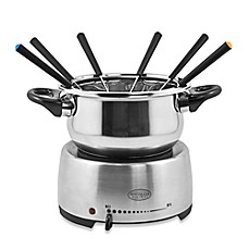 image of Nostalgia™ Electrics Stainless Steel Electric Fondue Pot