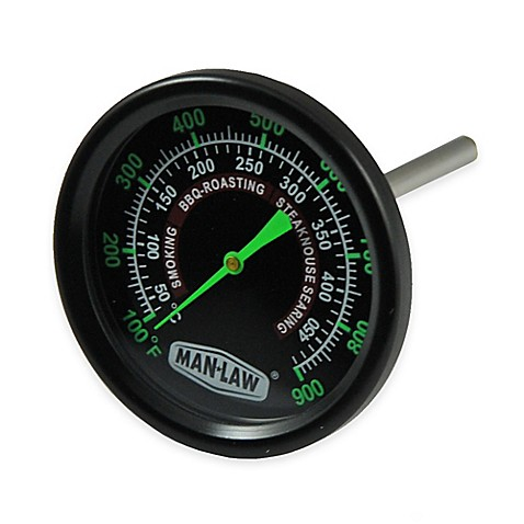 Man Law Bbq Grill Smoker Thermometer Gauge With Glow In