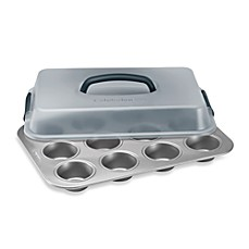 image of Calphalon® Nonstick 12-Cup Covered Cupcake Pan