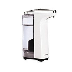 image of simplehuman compact sensor pump soap dispenser in white