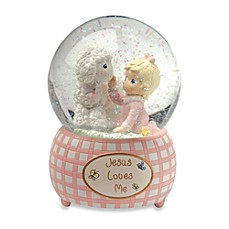 image of Precious Moments™ Jesus Loves Me - Girl Musical Water Globe