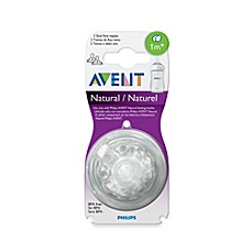 image of Philips Avent 1 Month+ 2-Pack Slow Flow Natural Nipples