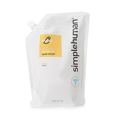 simplehuman® Dish Soap 34 oz. Refill Pouch in Lemon