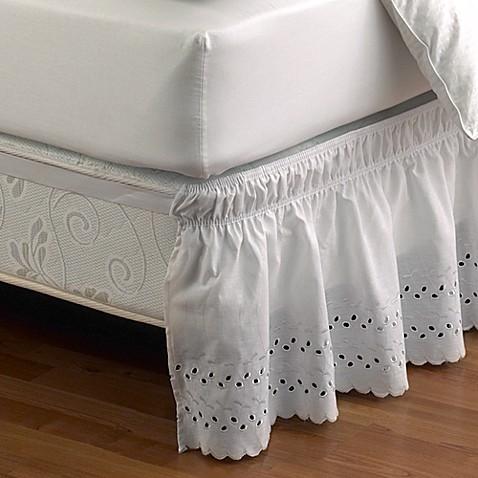 ruffled eyelet bed skirt - bed bath & beyond
