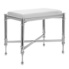 image of taymor chrome vanity bench - Vanity Stools For Bathrooms