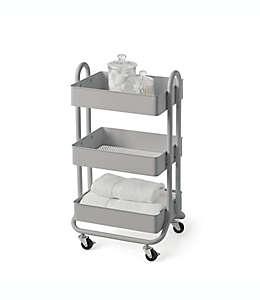 Carrito organizador de acero SALT™ color gris