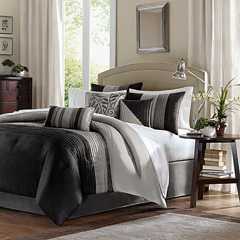 park duke pin fur quilt comforter black set quilts faux madison