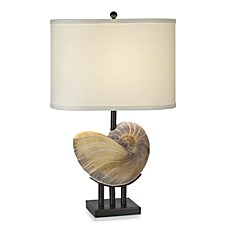 image of Pacific Coast Lighting Kaanapali Seashell Table Lamp in Bronze