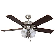 Image Of Cordova 52 Inch 4 Light Brushed Nickel Ceiling Fan