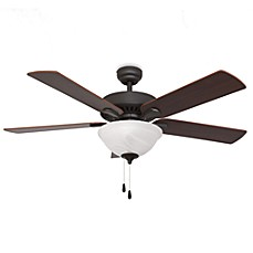 image of Cordova 52-Inch Bowl Light Ceiling Fan in Bronze