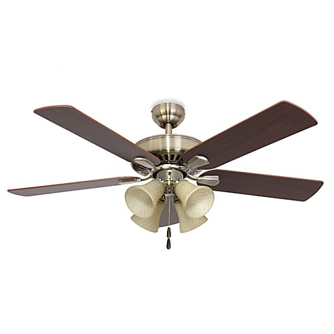 Cordova 52-Inch 4-Light Aged Brass Ceiling Fan
