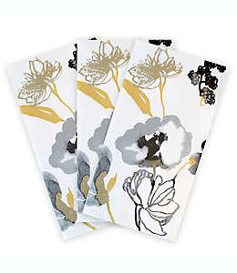 Toallas desechables de papel Ariella con diseño de flores, 16 piezas