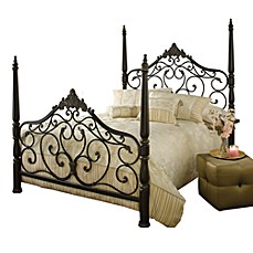 image of Hillsdale Parkwood Bed Set with Rails