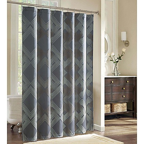 Charisma Emporio Shower Curtain In Charcoal/Taupe