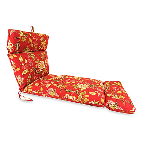 Outdoor Chaise Lounge Cushion in Alberta Salsa