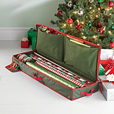 image of Real Simple® Holiday Gift Wrap Under Bed Wrapping Paper Storage