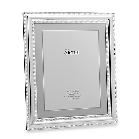 Siena Silverplated Double Bead Border 8 Inch X 10 Inch