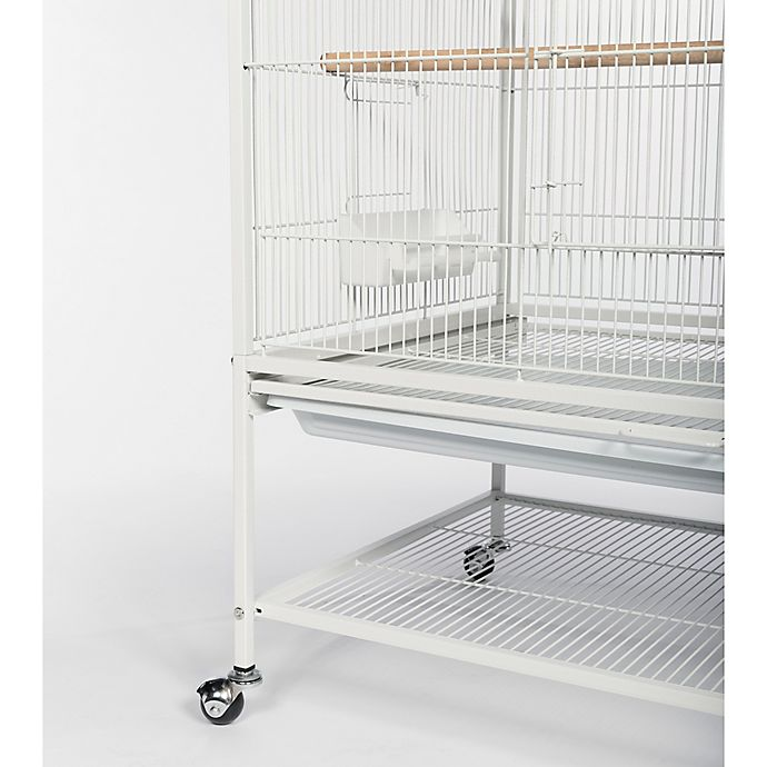 Prevue Pet Products Wrought Iron Flight Cage With Stand In Chalk White Bed Bath Beyond