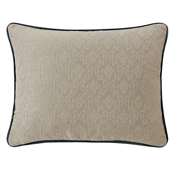 Waterford Everett 16 Inch X 20 Inch Oblong Throw Pillow In Teal Bed Bath Beyond