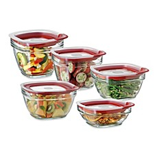 image of rubbermaid glass food storage containers with easyfind lids