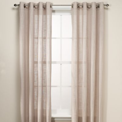 B smith origami grommet window curtain panels bed bath for Origami curtain