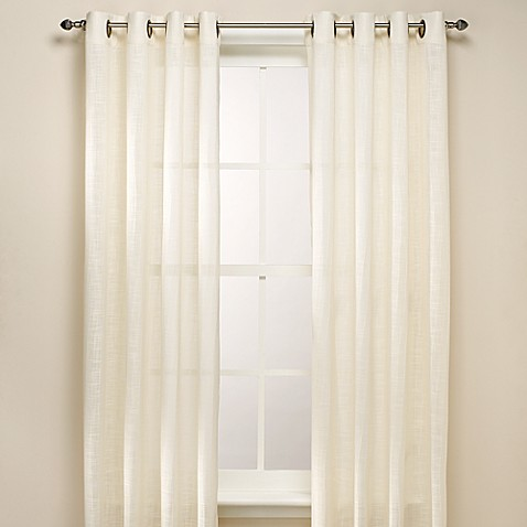 B. Smith Origami Grommet 108-Inch Window Curtain Panel in Ivory