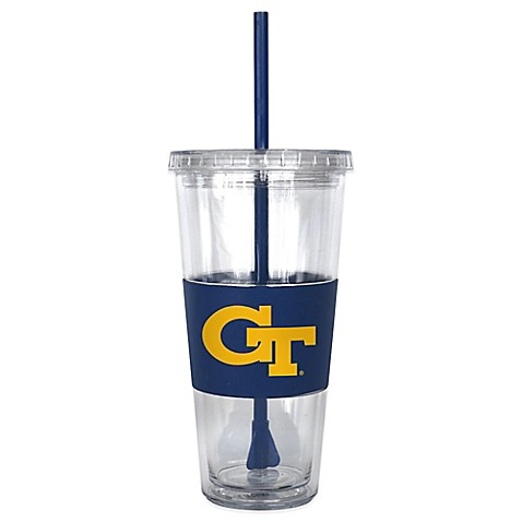 Double Wall 22-Ounce Tumbler with Lid & Straw - Georgia Tech