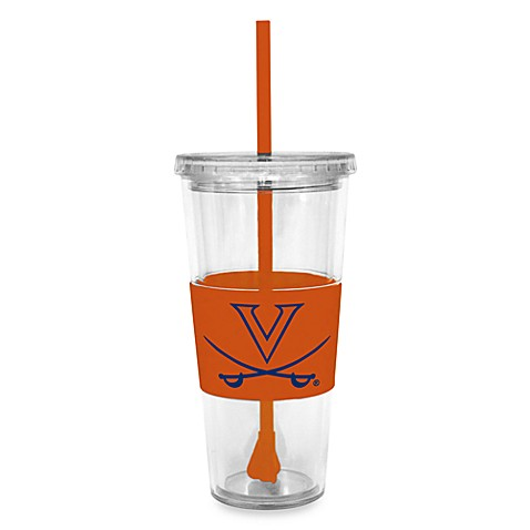 Double Wall 22-Ounce Tumbler with Lid & Straw - University of Virginia