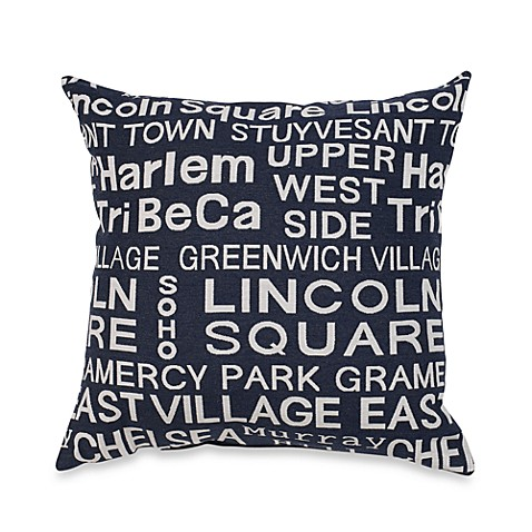Neighborhood Blue Jeans Throw Pillow