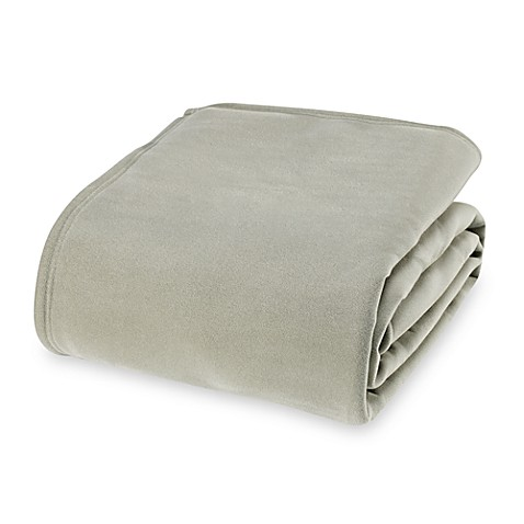 Buy vellux original twin blanket in moss from bed bath for Vellux blanket