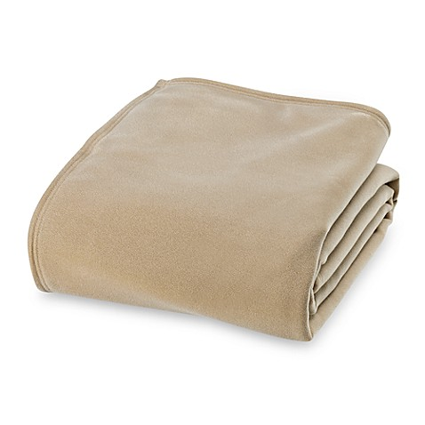 Buy vellux original twin blanket in tan from bed bath beyond for Vellux blanket