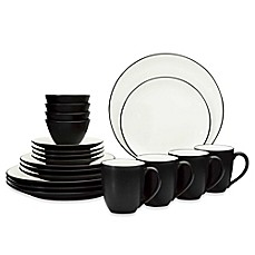 image of Noritake® Colorwave Coupe 20-Piece Dinnerware Set in Graphite