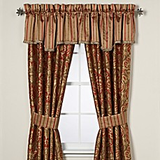 image of Austin Horn Classics Botticelli Window Curtain Panel Pair and Valance