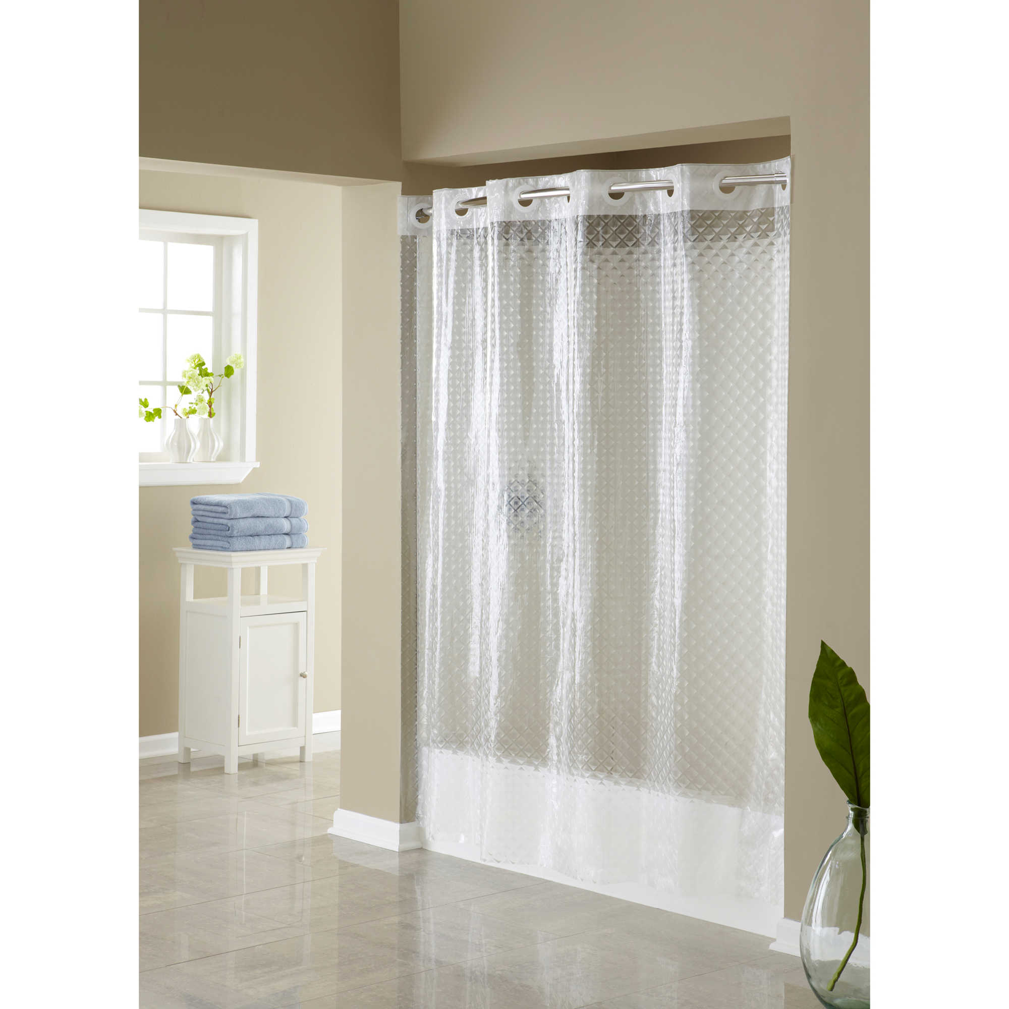 Hooklessreg 3D Diamond 71 Inch X 74 Shower Curtain