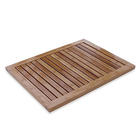 bamboo bath mat - bed bath & beyond