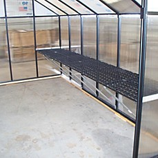 image of Riverstone Monticello 8' Workbench System for 8' Greenhouse in Black