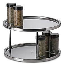 image of Stainless Steel Two-Tier Turntable
