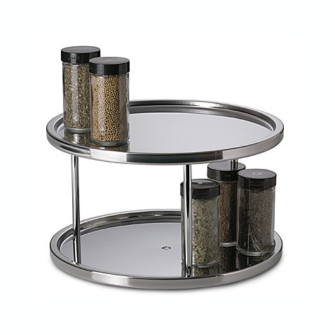 Great Stainless Steel Two Tier Turntable