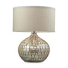 image of Dimond Lighting Canaan Table Lamp in Cream Pearl Finish