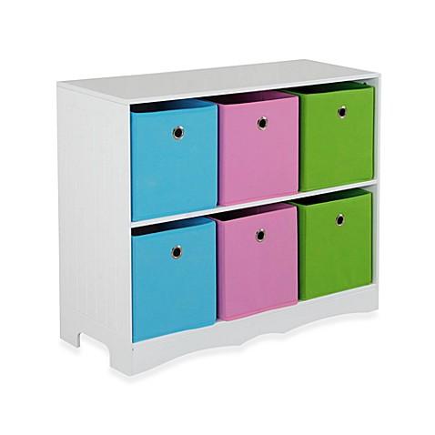 Hds Trading 6 Bin Storage Shelf