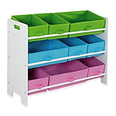 HDS Trading 9 Bin Storage Shelf