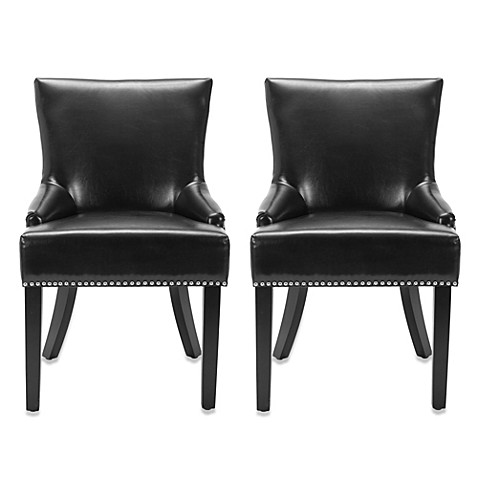 Safavieh Lotus Side Chair in Black (Set of 2)